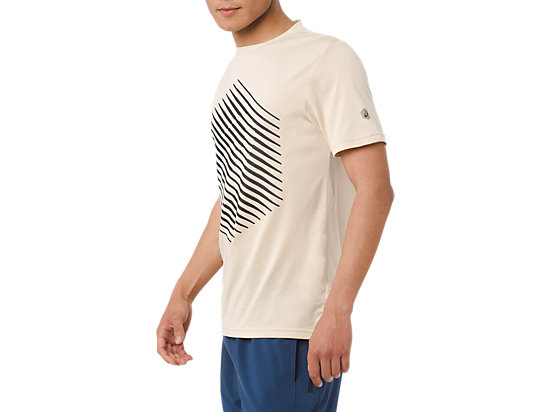GRAPHIC SS TEE BIRCH HEATHER