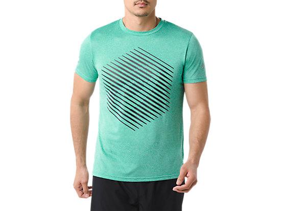 男式运动印花短袖T恤 蓝色