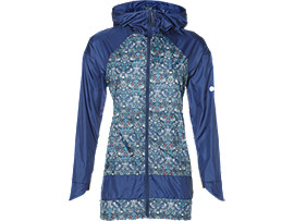Front Top view of LP LONG JACKET, Indigo Blue