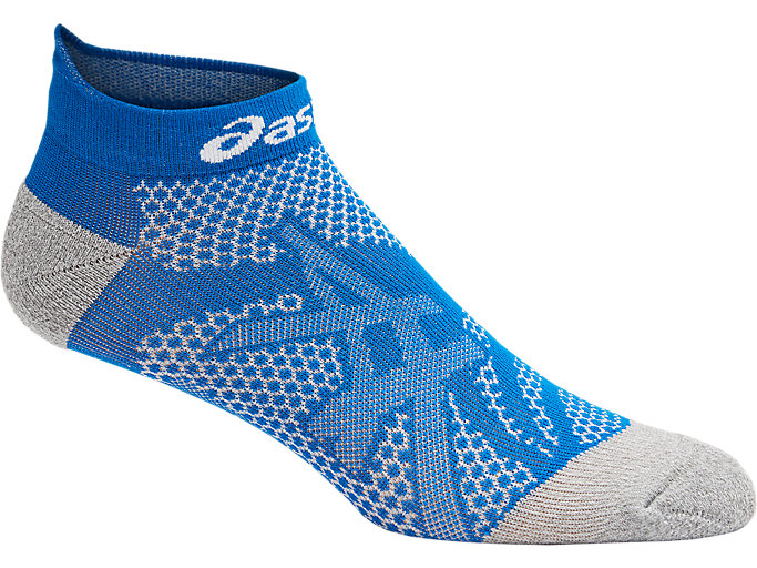 Front Top view of DISTANCE RUN PED SOCK, RACE BLUE