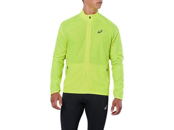 Front Top view of SPORT REFLECTIVE JKT, SAFETY YELLOW