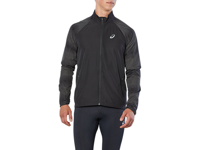 Front Top view of SPORT REFLECTIVE JKT, PERFORMANCE BLACK