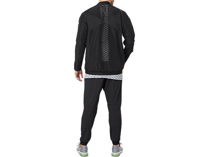 Alternative image view of WOVEN BOMBER JACKET, PERFORMANCE BLACK