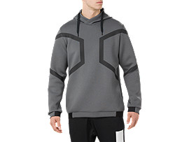 HEXAGON PO HOODIE, DARK GREY HEATHER