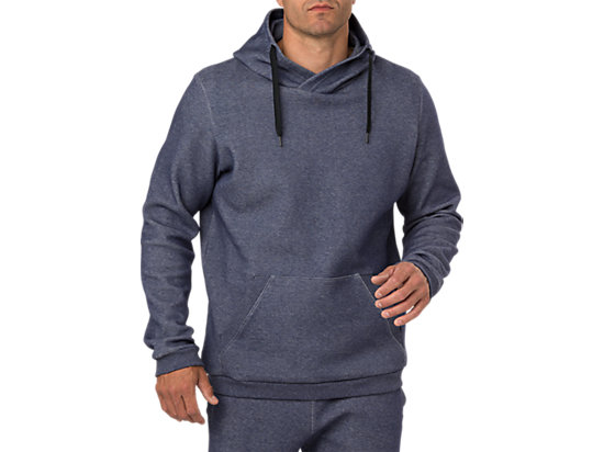 PULL OVER HOODIE PEACOAT HEATHER