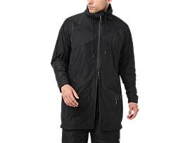 LONG COAT FZ HOODIE, PERFORMANCE BLACK