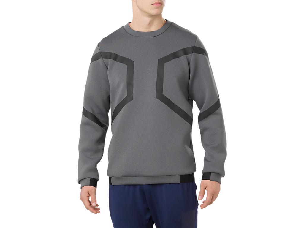 5bc54bbc8e HEXAGON LS CREW TOP | Men | Men's Long Sleeve Shirts | ASICS