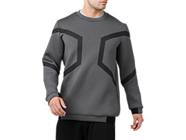 HEXAGON LONG SLEEVED CREW TOP