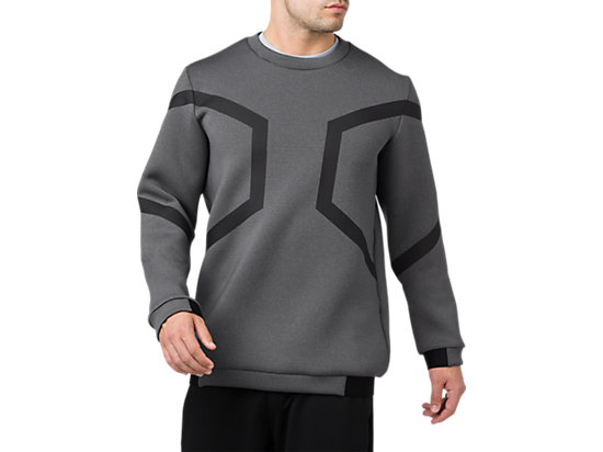 HEXAGON LS CREW TOP, Performance Black