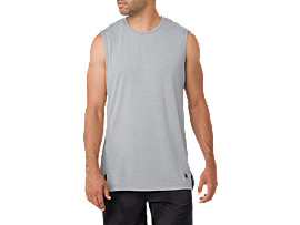 Front Top view of GEL-COOL TANK, STONE GREY HEATHER
