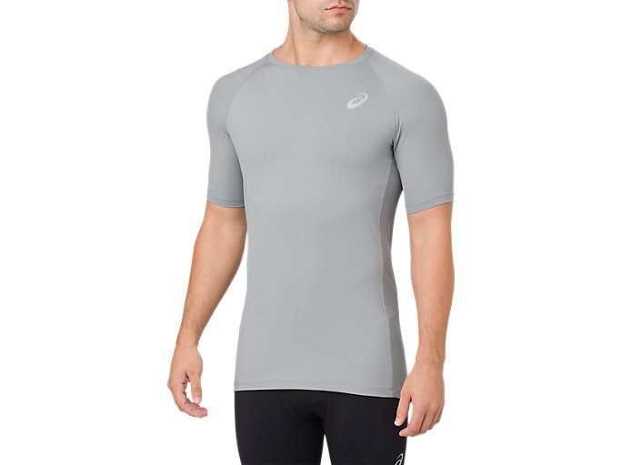 BASELAYER SS TOP, STONE GREY