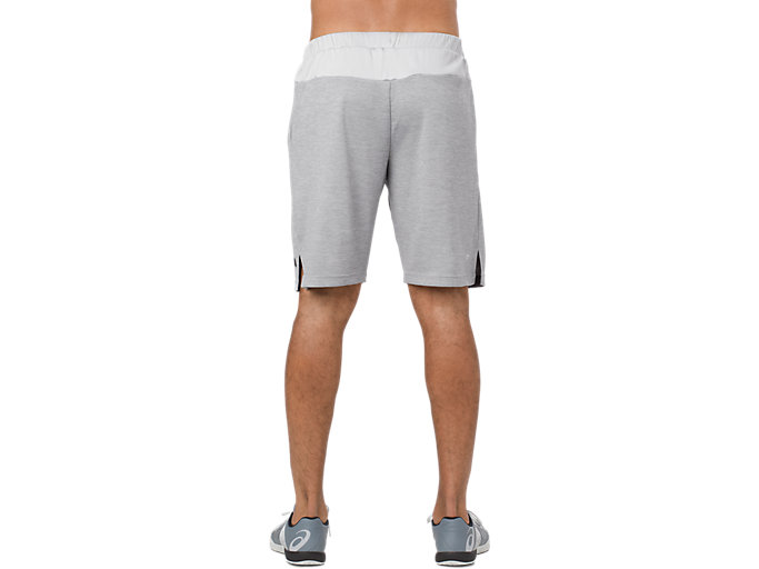 Back view of POWER SHORT 10IN, MID GREY HEATHER