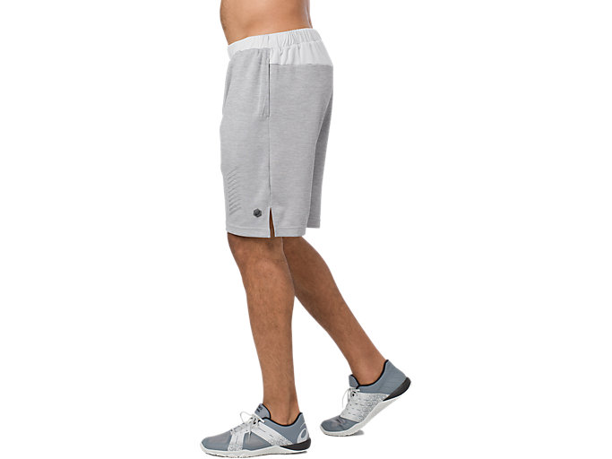 Alternative image view of POWER SHORT 10IN, MID GREY HEATHER
