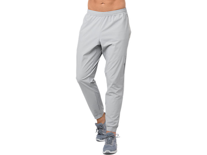 Front Top view of STRETCH WOVEN PANT, MID GREY