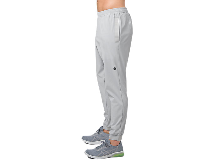 Alternative image view of STRETCH WOVEN PANT, MID GREY