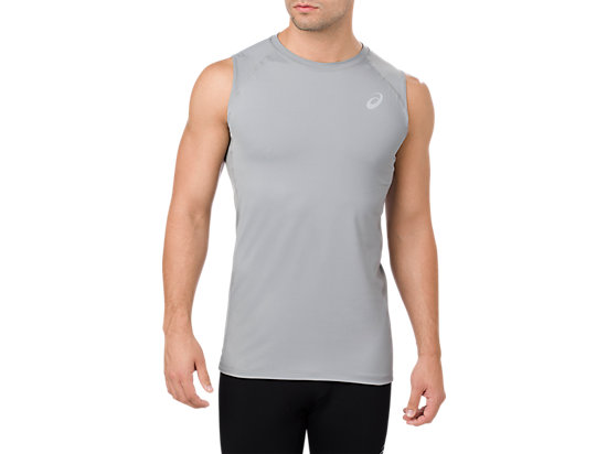 BASELAYER TANK TOP, STONE GREY