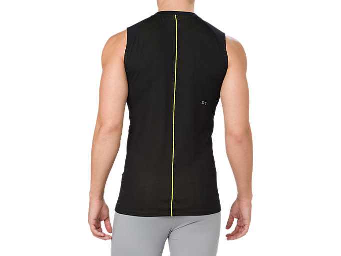 Back view of ASICS BASE LAYER TANK TOP, PERFORMANCE BLACK