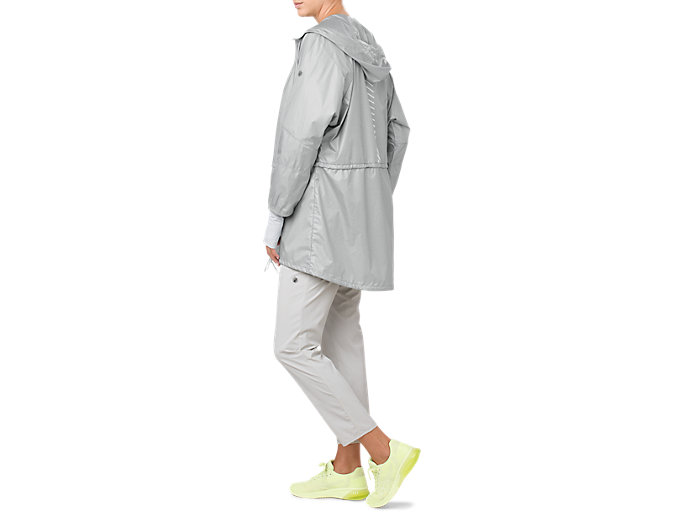 Alternative image view of LONG JACKET, MID GREY HEATHER