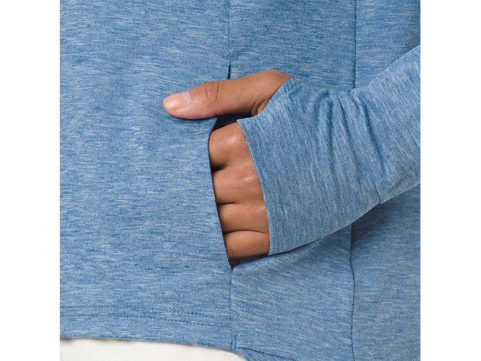 Alternative image view of SWEAT PO HOODIE, AZURE HEATHER
