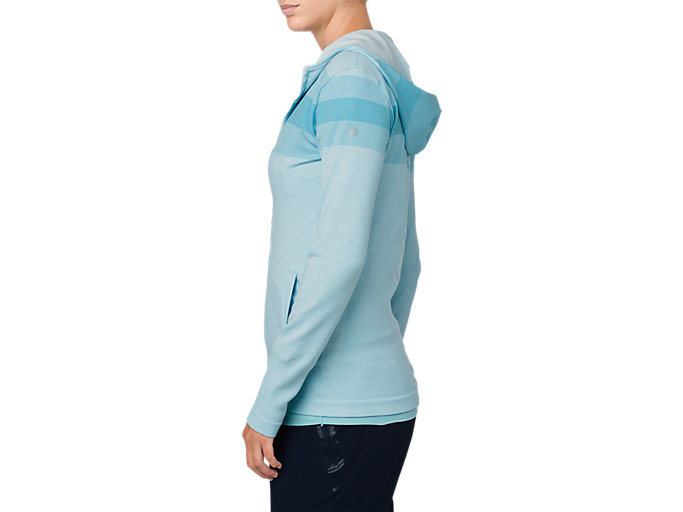Alternative image view of SEAMLESS FZ HOODIE, PORCELAIN BLUE HEATHER