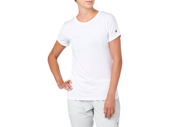CREW NECK SS TOP, BRILLIANT WHITE