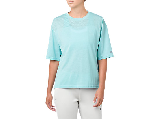 MESHED SS TOP, Porcelain Blue