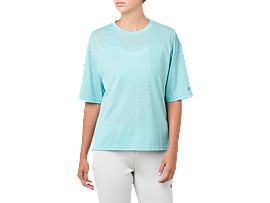 Soft-touch Short Sleeve Mesh Top