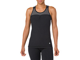 SEAMLESS TANK, Performance Black Heather