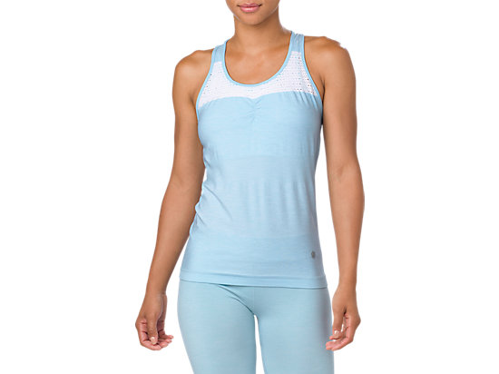 SEAMLESS TANK, PORCELAIN BLUE HEATHER