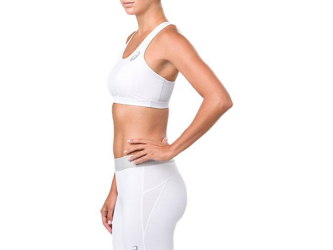 Alternative image view of ASICS BASE LAYER MED SUPPORT BRA, BRILLIANT WHITE