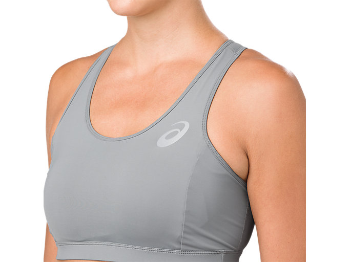 Alternative image view of ASICS BASE LAYER MED SUPPORT BRA, STONE GREY