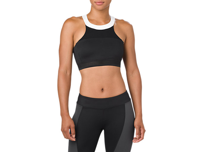 HALTERNECK BRA, PERFORMANCE BLACK