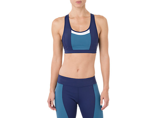 COLOR BLOCK BRA, INDIGO BLUE