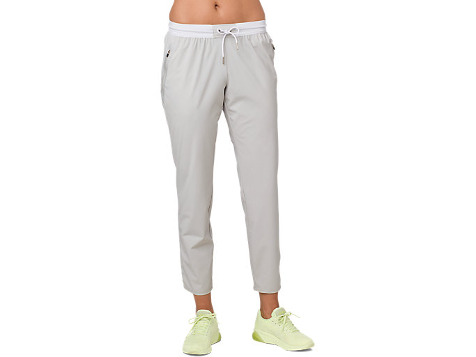 Front Top view of STRETCH WOVEN PANT, GLACIER GREY