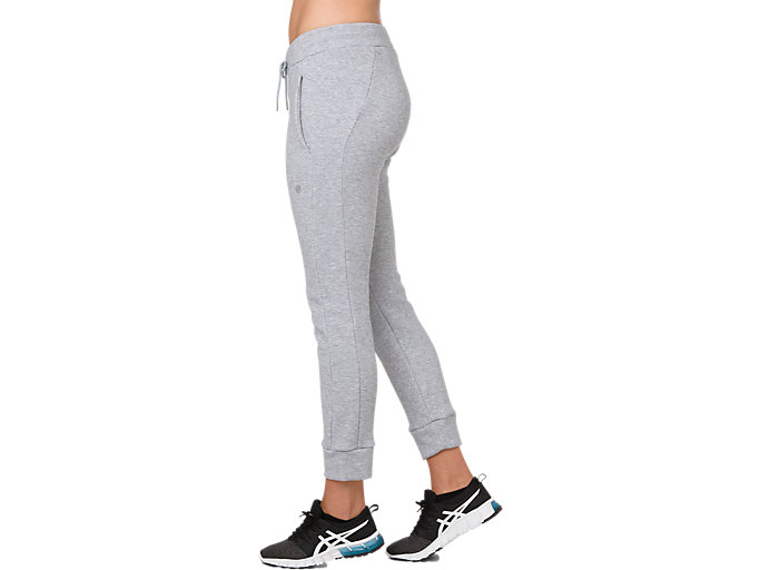 Side view of SWEAT PANT, STONE GREY HEATHER