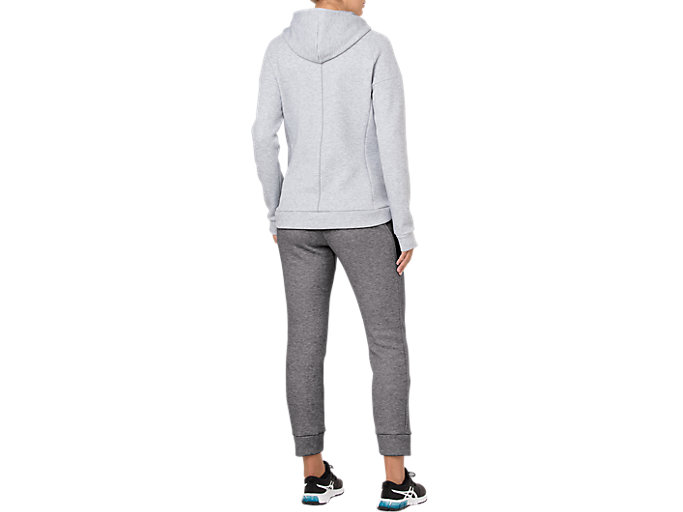 Back view of SWEAT PANT, STONE GREY HEATHER