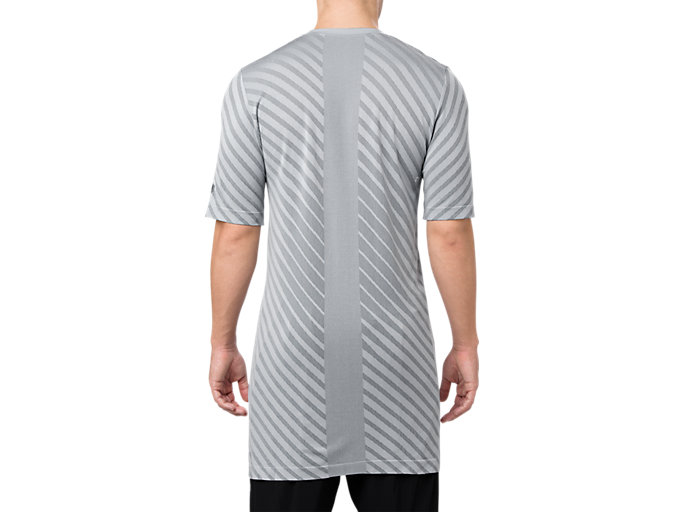 Back view of SEAMLESS SS TOP, STONE GREY