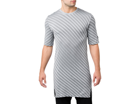 SEAMLESS SS TOP, STONE GREY