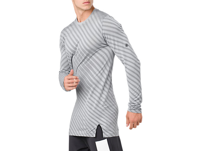 Alternative image view of SEAMLESS LS TOP, STONE GREY