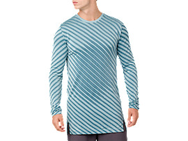 SEAMLESS LS TOP, PORCELAIN BLUE