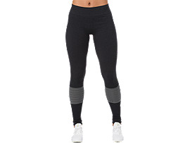 Front Top view of SEAMLESS TIGHT, PERFORMANCE BLACK HEATHER