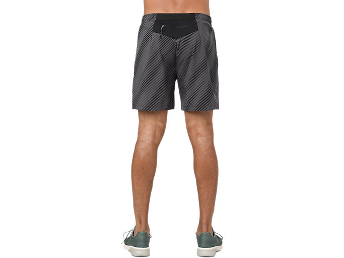 Back view of GRAPHIC SHORT 6IN, PERFORMANCE BLACK