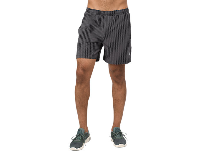 Front Top view of GRAPHIC SHORT 6IN, PERFORMANCE BLACK