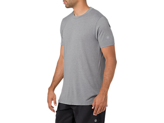 GEL-COOL M SS TOP CARBON HEATHER