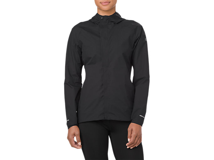 Front Top view of WATERPROOF JACKET, SP PERFORMANCE BLACK
