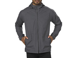 WATERPROOF JACKET, DARK GREY