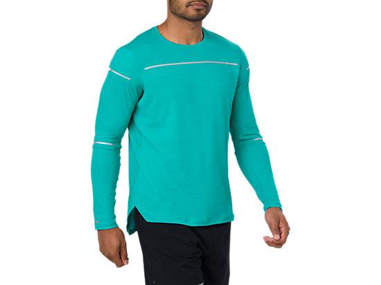 Camiseta de manga larga de running Lite-Show para hombre, LAKE BLUE