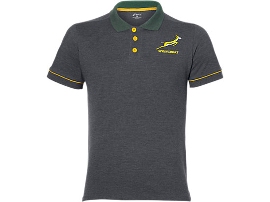 SB FAN POLO, DARK GREY HEATHER