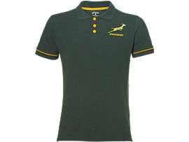 SB FAN POLO, BOTTLE GREEN HEATHER