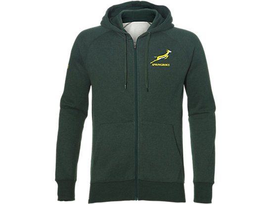 SF ZIP HOODY, BOTTLE GREEN HEATHER